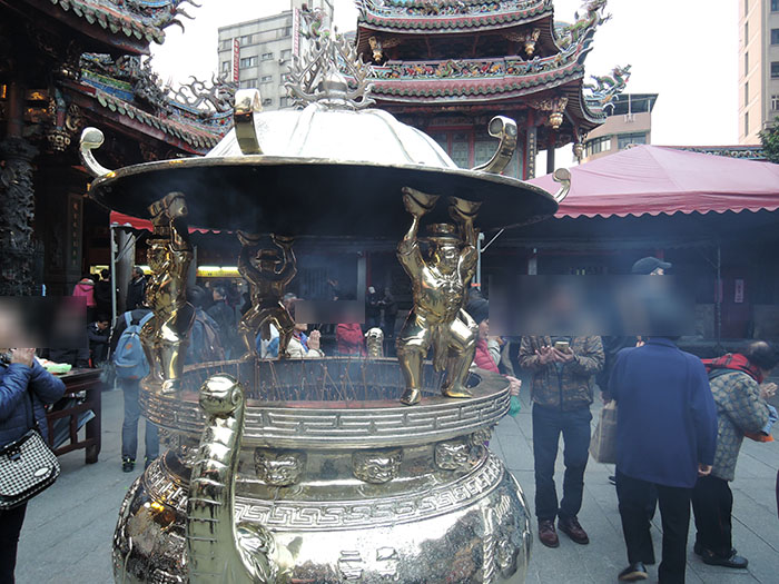 The long sang temple in Taipei