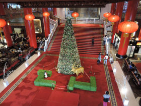 Christmas tree at Grand Hotel Taipei