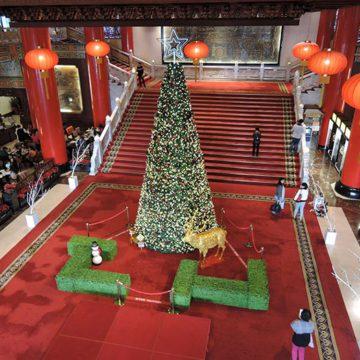 Christmas tree at Grand Hotel Taipei