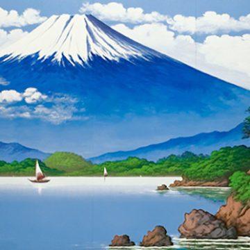 Mt.Fuji on the wall of public bathhouse