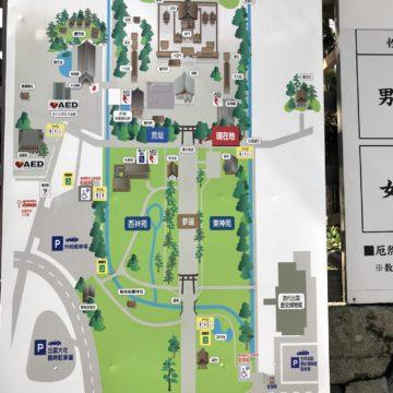 Map of Izumo Taisha